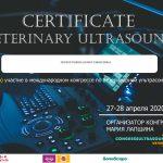 Сертификат ветеринарного врача Прохорушкиной Юлии